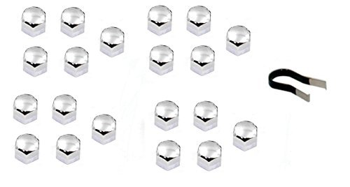 CHROME LUG NUT COVERS FOR BMW - ALL MODELS - M3 M5 M6 1M - 20 PIECES