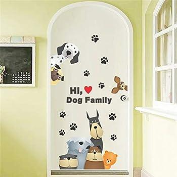 3D vívido Adorable perro pata pegatinas de pared para ...