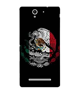 ColorKing Football Mexico 09 Black shell case cover for Sony Xperia C3