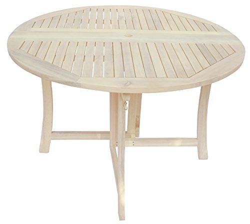 Zen Garden Deck - Zen Garden 43 inch Foldable Deck Table, Oak White Wood Finish