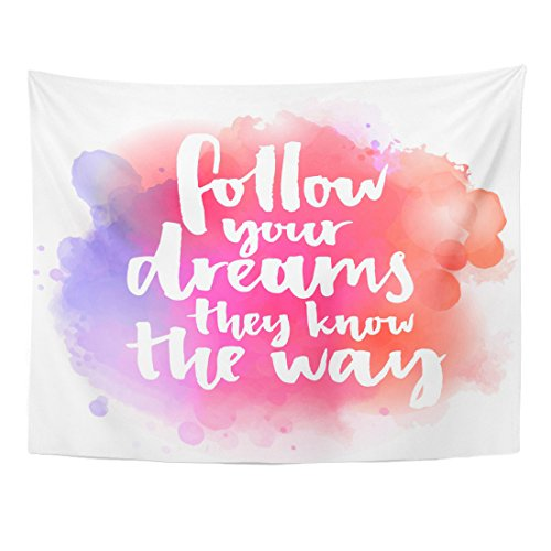low Your Dreams They Know The Way Inspirational Quote Home Decor Wall Hanging for Living Room Bedroom Dorm 60x80 Inches ()