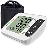 Hong S Blood Pressure Monitor [2019 Update] Upper Arm Fully Automatic Accurate Clinical Blood Pressure & Pulse Rate Monitor with 120 Reading Memory for 2 User, 8.6'-14.2' Cuff Size