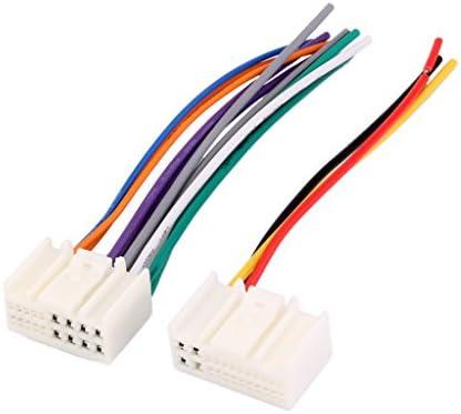 配線ハーネス カー用 オーディオ配線 ラジオ CD/DVD 現代/IX35/起亜/K2用 2個