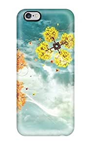 New LRikiQk3913dyzep Space Trees Skin Case Cover Shatterproof Case For Iphone 6 Plus