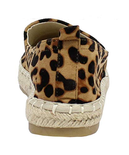 By Basse Shoes Donna Espadrillas Leopard vzwUXv
