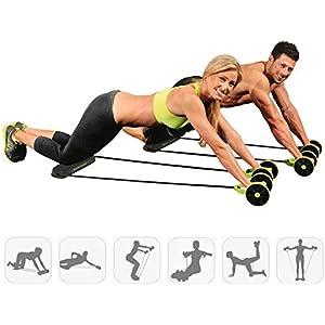 Clobeau Ab Roller Gym Abdominal Abs Roller Waist Wheel Handle Workout Machine Fitness Exercise Strength Training…