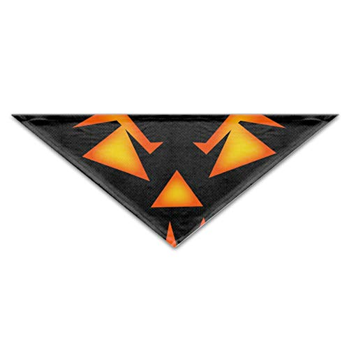 (Scary Halloween Face Fun Bright Color Snap-On Pet Dog Bandana Triangle Scarf Bibs - Accessories for Dogs, Puppy, Cats - Small/Medium, Soft Polyester)