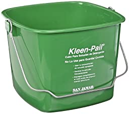 San Jamar KP256 Green Kleen Pail Container, 8qt Capacity, For Cleaning Solutions