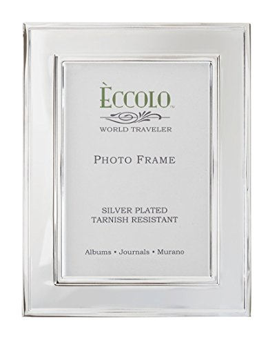 "Eccolo Silver Plated Photo Frame, 5 by 7"", Rope Border"
