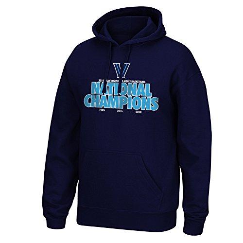 Elite Fan Shop Villanova Wildcats Championships Hooded Sweatshirt Basketball 2018 Navy V - XXL - Navy Blue ()