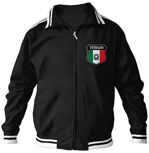 - Amdesco Men's Italian Pride, Italia Italy Track Jacket, Black XL