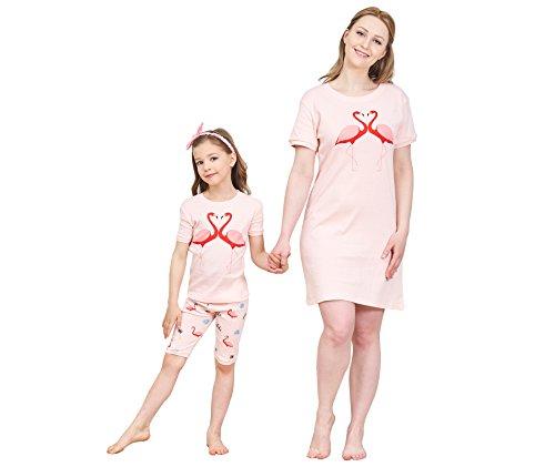 Fitted Short Pjs (IF Family Little Girls Snug-Fit Pajamas Short Sets 100% Cotton Pink PJS Size 5)