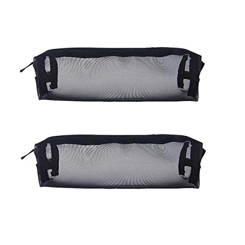 Chris.W 2Pack Visible Zippered Square Mesh Stylus Pencil Case/Pouch/Holder Carrying Bag for Pencils, Digital Pens, Ballpoint Pens, Tablet Touch Pens, Crayons & Paint -