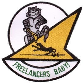 US Navy Fighter Squadron Army Embroidery Iron on Patch - Tomcat Freelancers Baby !