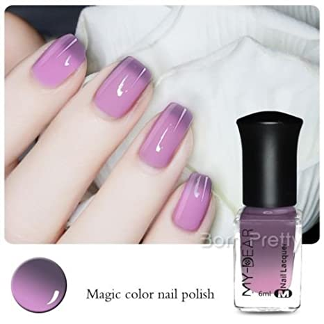 Buy Generic Peel Off Thermal Color Changing Nail Art Polish Gray To