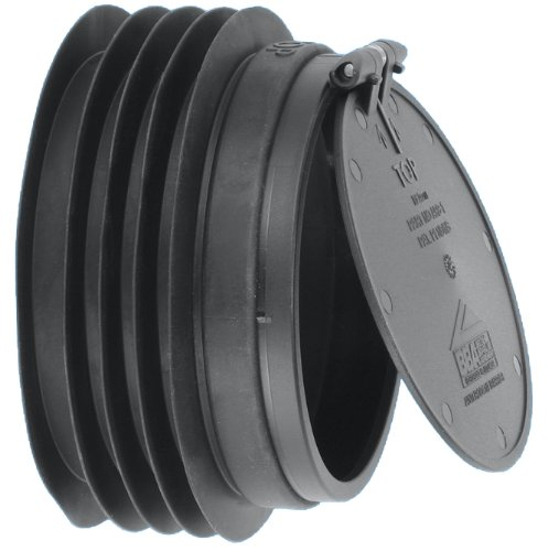 Cabinetsforbathrooms McAlpine Anti Cross-Flow and Rodent Barrier Valve For WC Toliet outlets - Color : Black