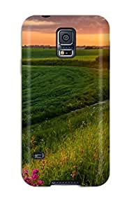 Top Quality Case Cover For Galaxy S5 Case With Nice Sunrise Appearance