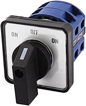 8 Terminal Posici/ón 2 Cambio Interruptor De Leva Rotatorio AC660V 20A