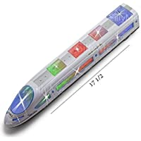 Shade of Toys Bump and Go High Speed Bullet Train Toy - 3D Lighting and Musical Fun Sounds - Toy for Kids Birthday Gift - 38 cm