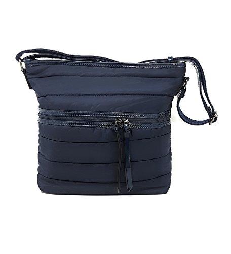 Style de Bandolera Azul de Lona con Mer's Bolso Mujer dEHdqA