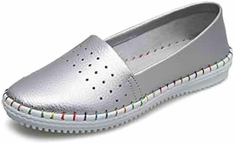 0e92c51569b8 Yang Sha Women Fashion Soft Leather Anti-Skid Casual Flat Shoes Summer  Autumn Round Toe