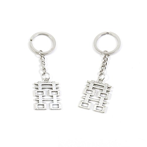 10 x Keychain Keyring Key Ring Chain Jewelry Findings L2XC9 Double Happiness ()