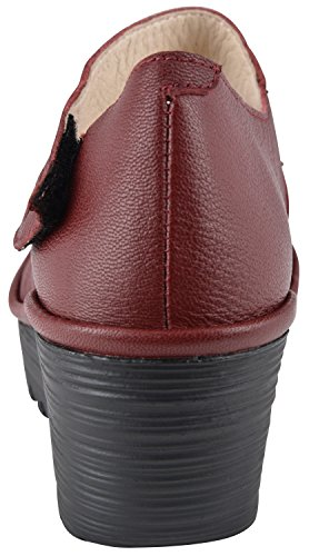 Fly London Womens Yasi682fly Wedge Pump Rosso Cordoba