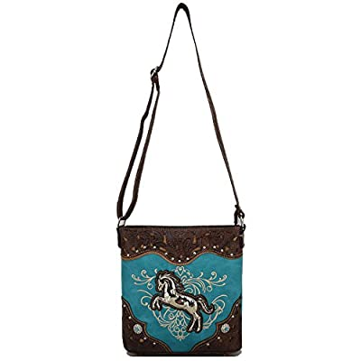 Western Cowgirl Style Horse Cross Body Handbags Concealed Carry Purses Country Women Single Shoulder Bag