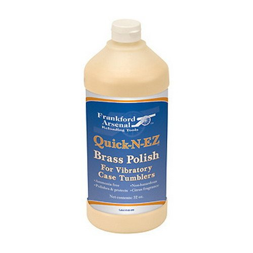 Frankford Arsenal 32 oz. Bottle of Ammonia-Free Quick-N-EZ Brass Polish for Tumbler and Reloading