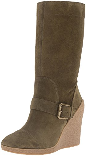 Nine West Women's Darren Suede Mid-Calf Boot, Dark Green, 7.5 M (Nine West Green Boots)