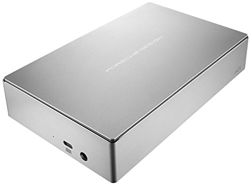 Drive Lacie Hard Desktop Safe - LaCie Porsche Design 6TB USB-C Desktop Hard Drive + 2mo Adobe CC Photography (STFE6000401) (Renewed)