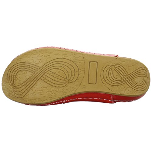 Andrea Conti 0021562021 - Sandalias de vestir de Piel para mujer Rojo