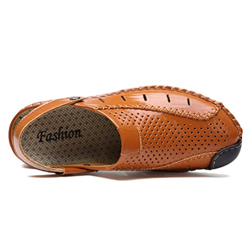 オデュッセウス添加サボサンダル スポーツサンダル ビーチサンダル 革靴 メンズ スリッパ レザー シューズ 靴 男性用 2WAY 水陸両用 磯遊び ウォーターシューズ 穴付き 水抜き 通気性 滑り止め オシャレ 野外履き 夏 海 プール