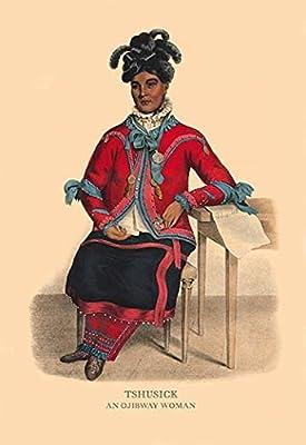 "Tshusick (An Ojibway Woman)Fine art canvas print (20"""" x 30"""")"