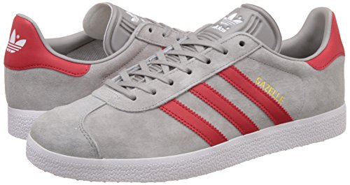 Chaussures Originals Solid Gazelle Grey Gris De mgh Scarlet Homme Pour Ftwr Course Adidas White rZwATr