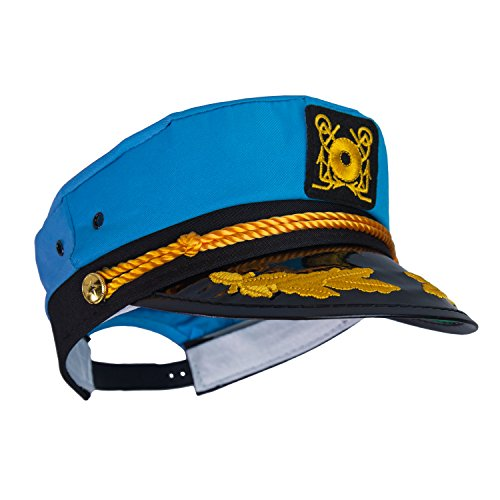 Captain Ford's Neon Captain Hat, (Neon Blue) -