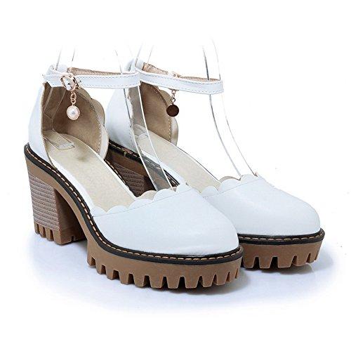 Blanc Sandales Femme Sandales Sandales Compensées Femme BalaMasa BalaMasa BalaMasa Blanc Compensées 5pqZ1fwZ