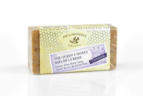 (Pre de Provence Queen's Honey Shea Butter Enriched 150 Gram Large French Soap Bar - Lavender Honey)