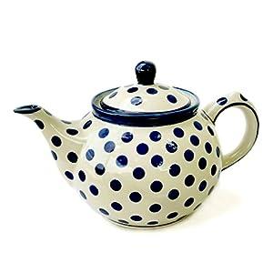 Bunzlauer Teapot 800ml Dekor Polka