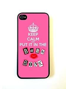 Keep Calm Put It In The Burn Book iphone 5/5s iphone 5/5s Case Fits iphone 5/5s iphone 5/5s - Designer TPU Case Verizon AT&T Sprint