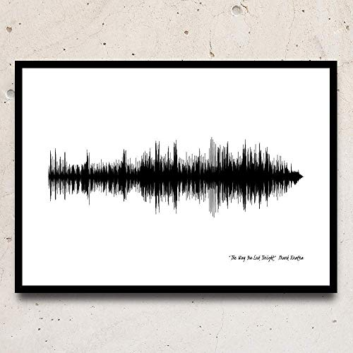 Greta Oto Artistic Print, Soundwaves, Print your Favourite Song - Wall Hanging, Art Print, Photo Paper, Christmas Gift