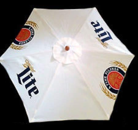 Miller Lite 9 Foot Beer Patio Umbrella Market Style