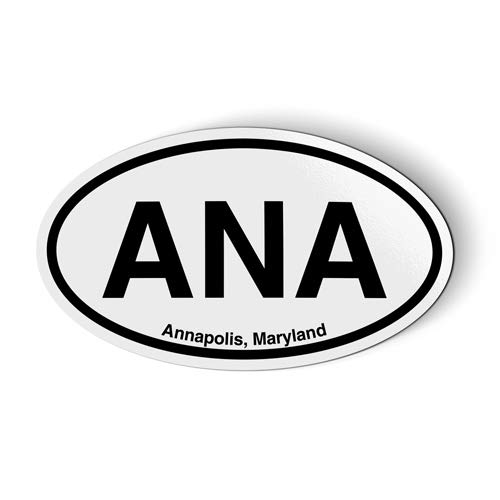 Stickers & Tees ANA Annapolis Maryland Oval - Car Magnet - 5
