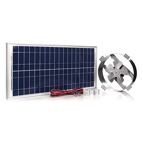 Amtrak Solar Powerful 40-Watt Galvanized Steel New Upgraded14 Solar Attic Fan Quietly Cools and Ventilates Your House, Garage or RV and Protects Against Moisture Build-up.