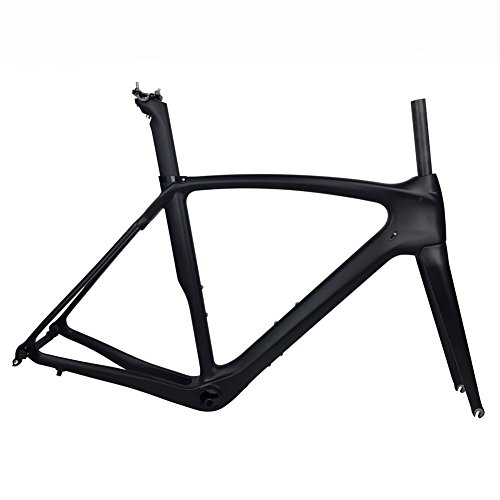 FASTEAM UD Matt BB386 Carbon Frame for Road Bicycle with Full Carbon Fiber Fork (53CM) by Fasteam