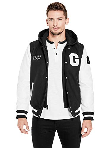 GUESS Factory Men's Ken Color-Block Varsity Jacket by GUESS Factory