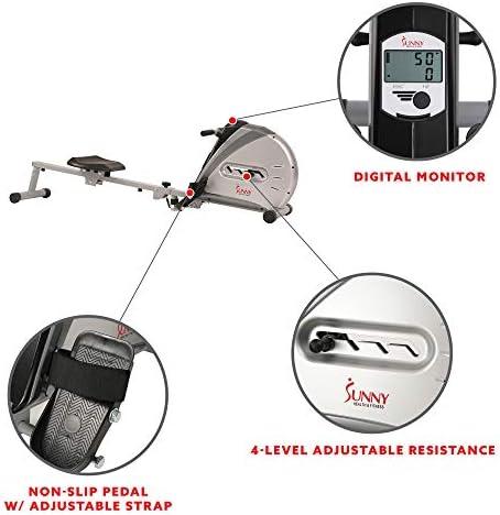 Sunny Health & sf-rw5606Cuerda elástica máquina de Remo de Fitness 5