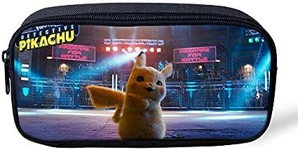 Pokemon Pikachu - Estuche para lápices de gran capacidad para la escuela, oficina, colegio, colegio, niña, tamaño grande, color Pikachu-16 22x11x4.5cm: Amazon.es: Oficina y papelería