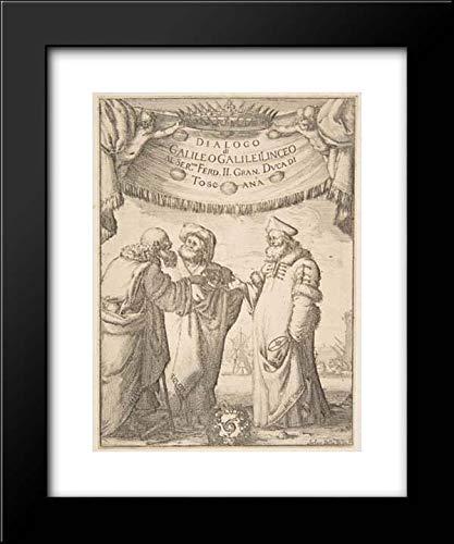 Stefano Della Bella - Giovanni Battista Landini - Ferdinando II de' Medici, Grand Duke of Tuscany - 15x18 Framed Museum Art Print- Frontispiece for Dialogo di Galileo Galilei ()