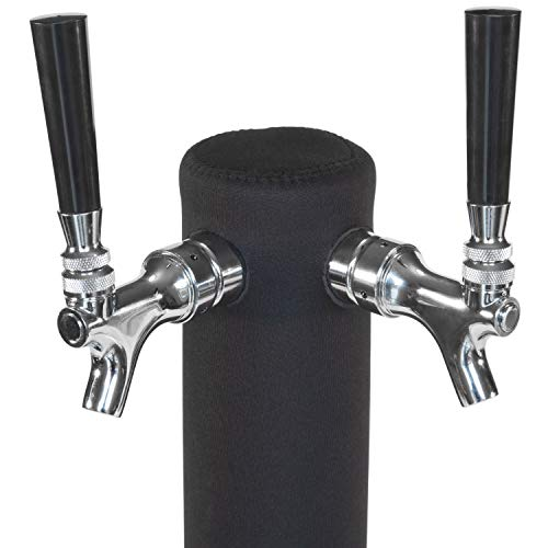 Kegerator Tower Cooler Custom Sleeve for Beer Tower - Neoprene - Perfect Fit for Kegerator Tap Tower - Easy to Use Beer Tower Cooler Accessory (3.0
